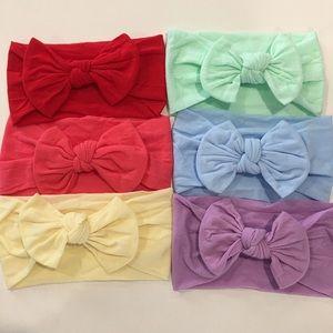 6 Nylon baby Headband Headwraps